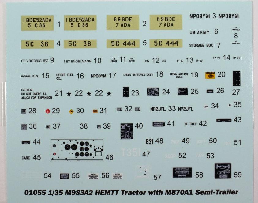 Review_Trumpeter_M983A2_021 M983A2 HEMTT mit M870A1 Semi Trailer - Trumpeter 1/35