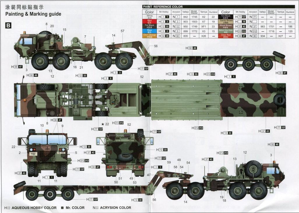 Review_Trumpeter_M983A2_101 M983A2 HEMTT mit M870A1 Semi Trailer - Trumpeter 1/35