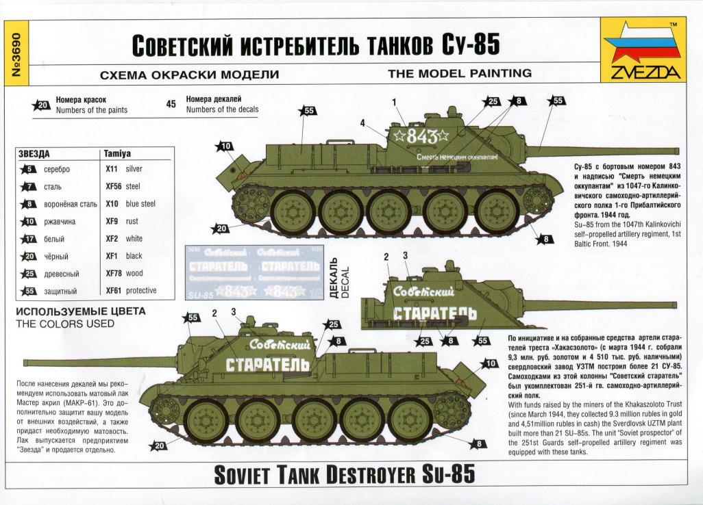 Review_Zvezda_SU-85_27 SU-85 - Zvezda 1/35