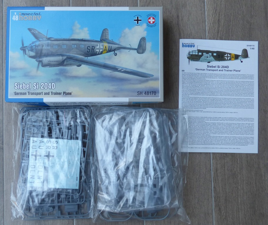 Special-Hobby-48170-Siebel-Si-204D-1 Siebel Si 204D in 1:48 von Special Hobby SH 48170