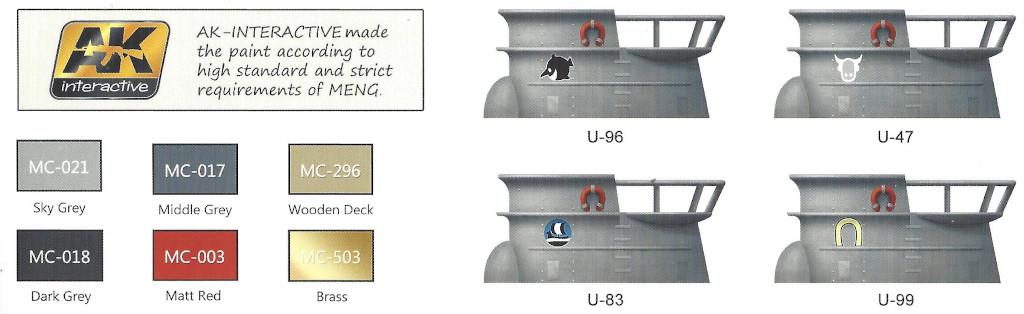 Wappen U-Boat Type VII 1:Egg Meng (#WB-003)