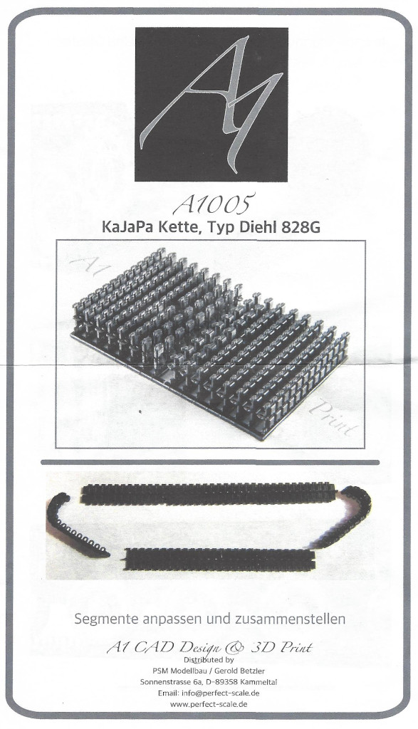 1 KaJaPa Kette Diehl 828G 1:35 A1 Design/Perfect Scale (#A1005)