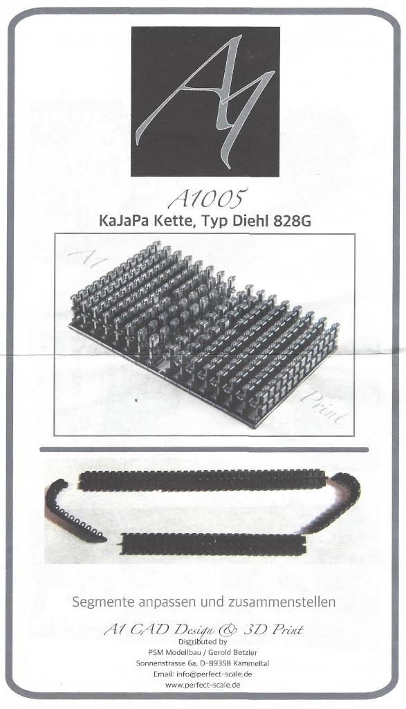 1 KaJaPa Kette Diehl 828G 1:35 A1 Design/Perfect Scale (#A1005)