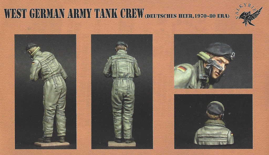 3 West German Army Tank Crew 1:35 Valkyrie Miniatures (#VM35006)