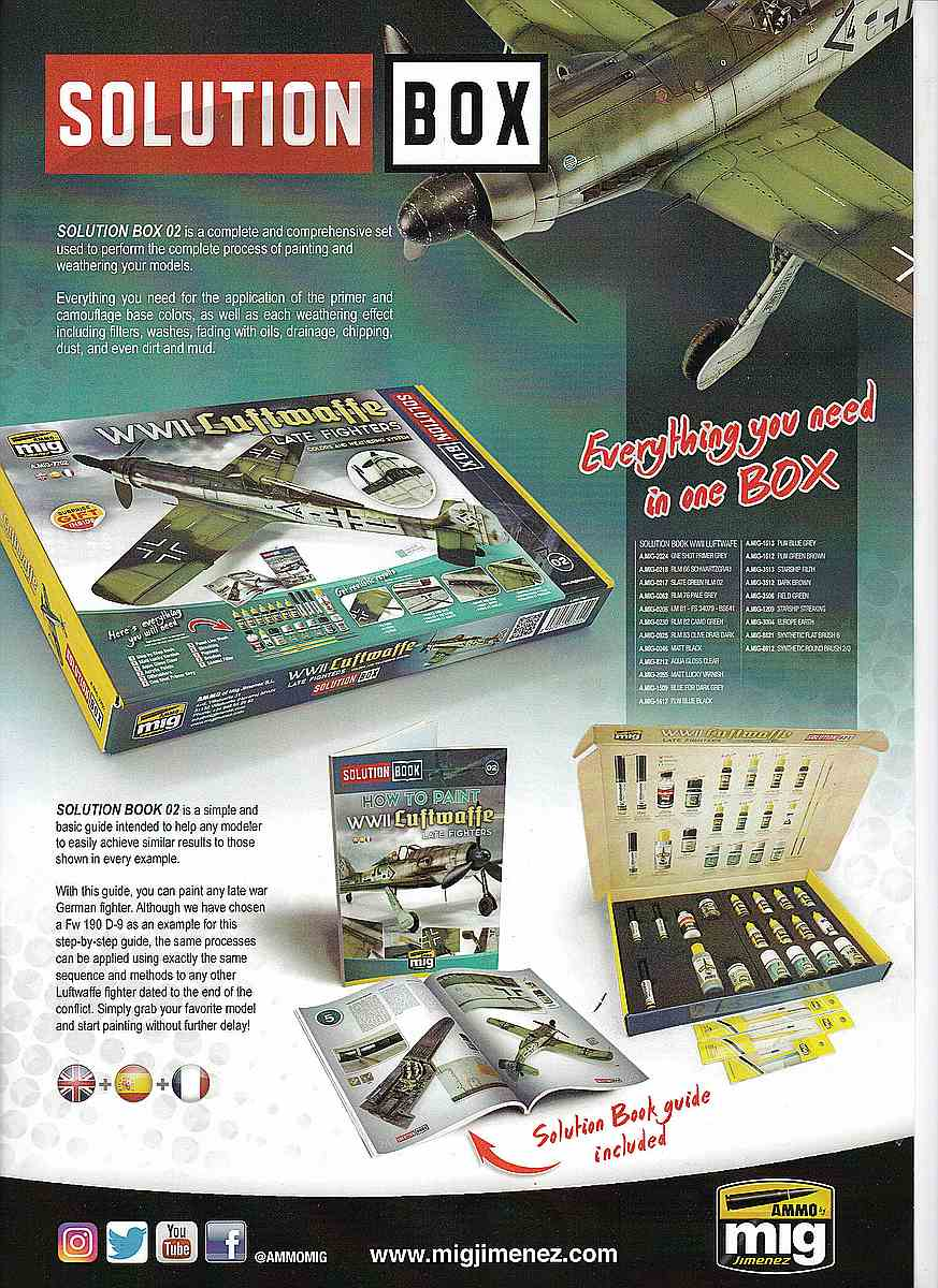 AMMO-Solution-BOX-Luftwaffe-Late-Fighter Solution Book WW II Luftwaffe late fighters von AMMO # AMig 6502