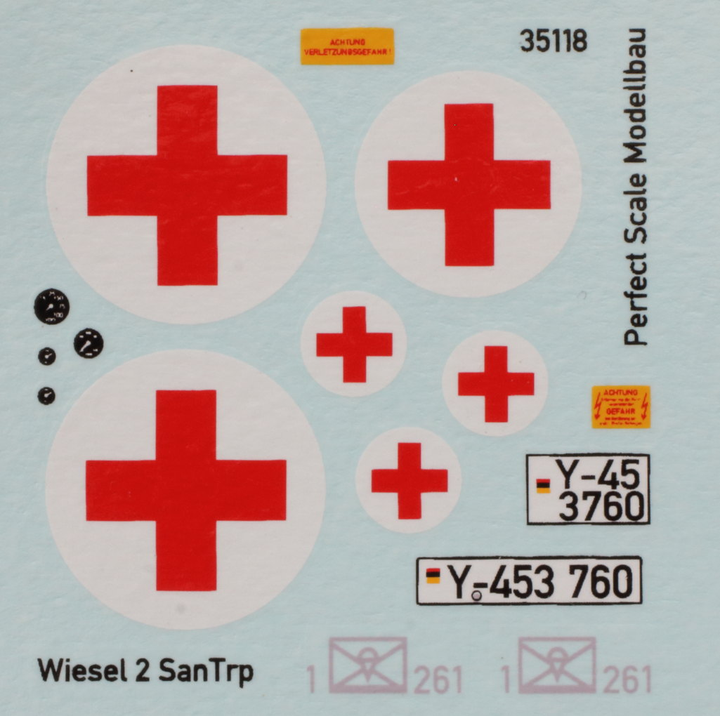 Decals-1 Wiesel SAN Trp 1:35 Perfect Scale (#35118 )