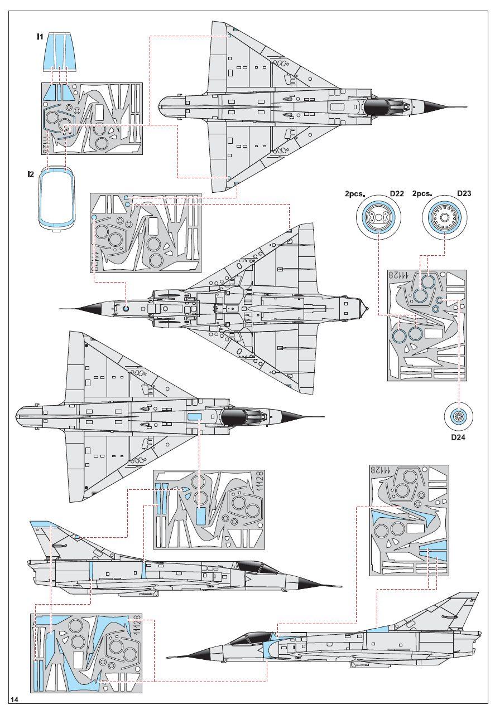 "Eduard-11128-Shachak-Masken Mirage III CJ ""Shachak"" in 1:48 als Limited Edition  Eduard # 11128"