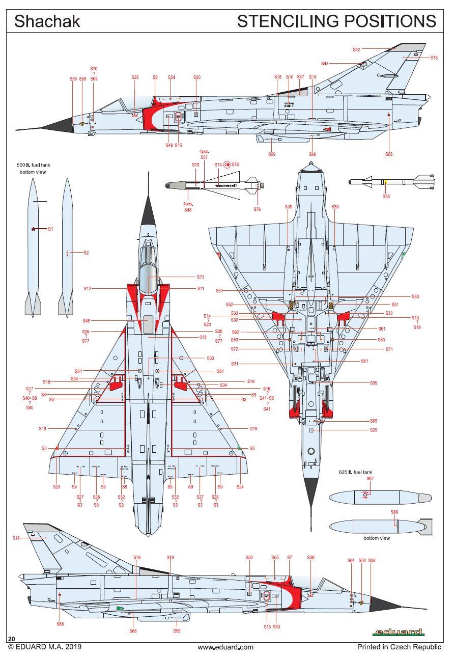 "Eduard-11128-Shachak9 Mirage III CJ ""Shachak"" in 1:48 als Limited Edition  Eduard # 11128"