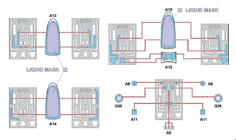 Eduard-11134-P-51-D-5-Chattanooga-Bauanleitung-Details-Masken P-51 D-5 Chattanooga Choo Choo in 1:48 von Eduard 11134