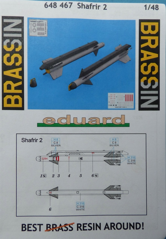 Eduard-648467-Shafrir-2-1 Shafrir 2 Raketen in 1:48 von Eduard # 648467