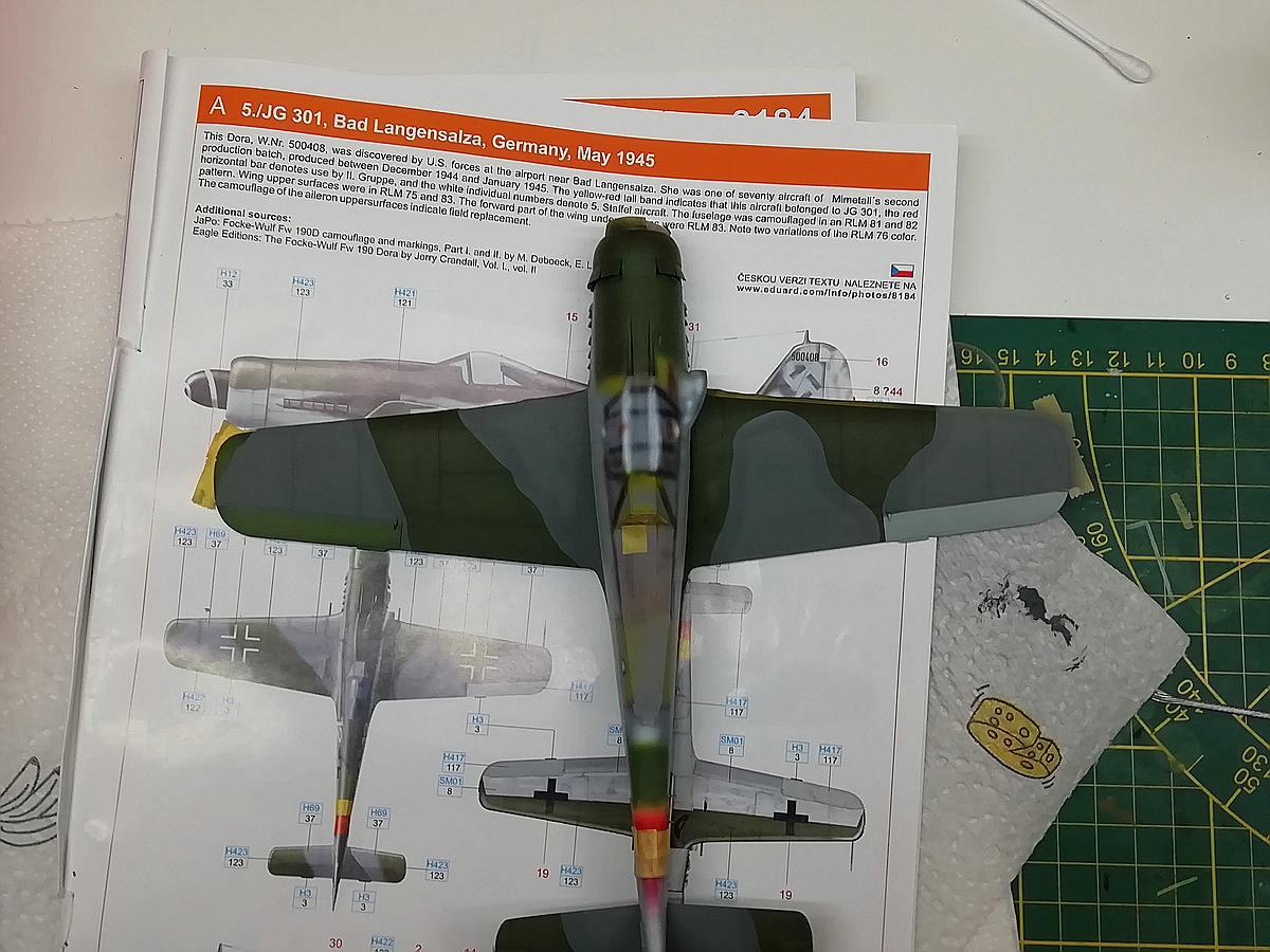 Eduard-8184-Fw-190-D-9-Werkstattbericht-Ergebniss-PanzerPutty-von-MBK Werkstattbericht: FW 190 D-9 von Eduard in 1:48