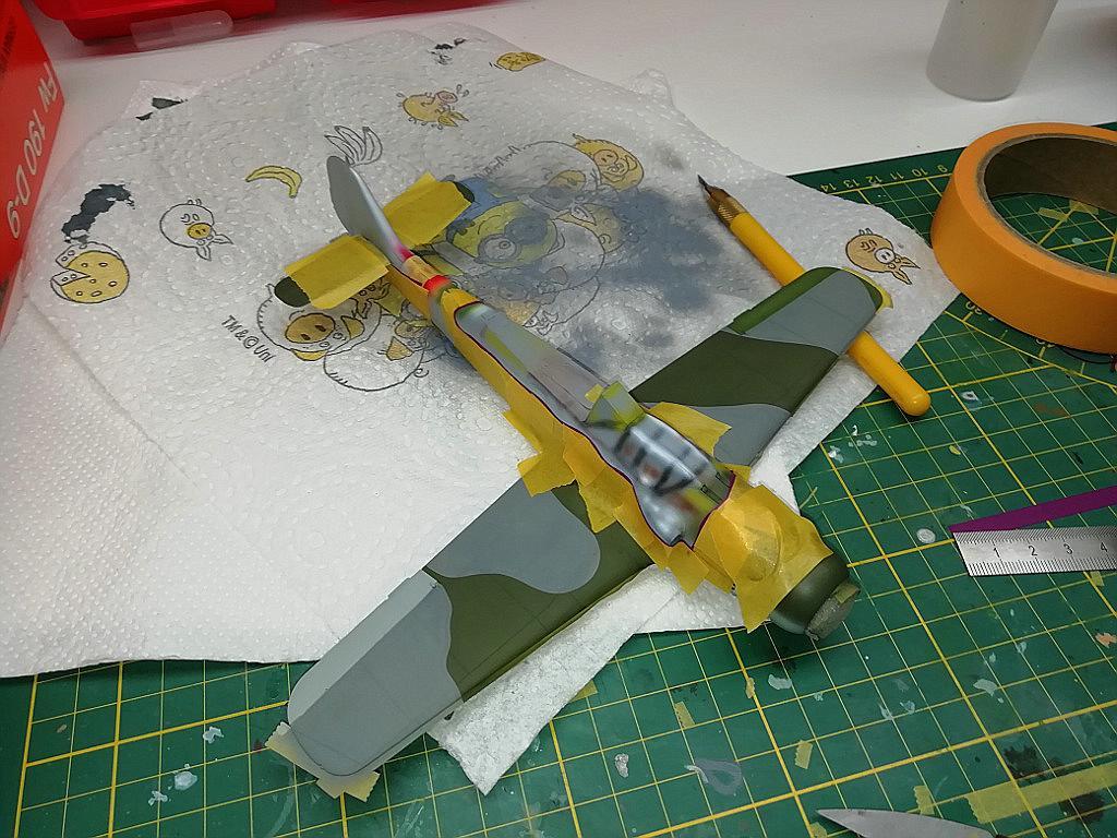 Eduard-8184-Fw-190-D-9-Werkstattbericht-Lackierung-Rumpf-Abkleben Werkstattbericht: FW 190 D-9 von Eduard in 1:48