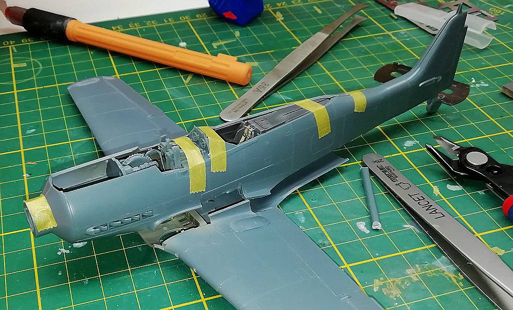 Eduard-8184-Fw-190-D-9-Werkstattbericht-Tragflächen-Passung-2 Werkstattbericht: FW 190 D-9 von Eduard in 1:48