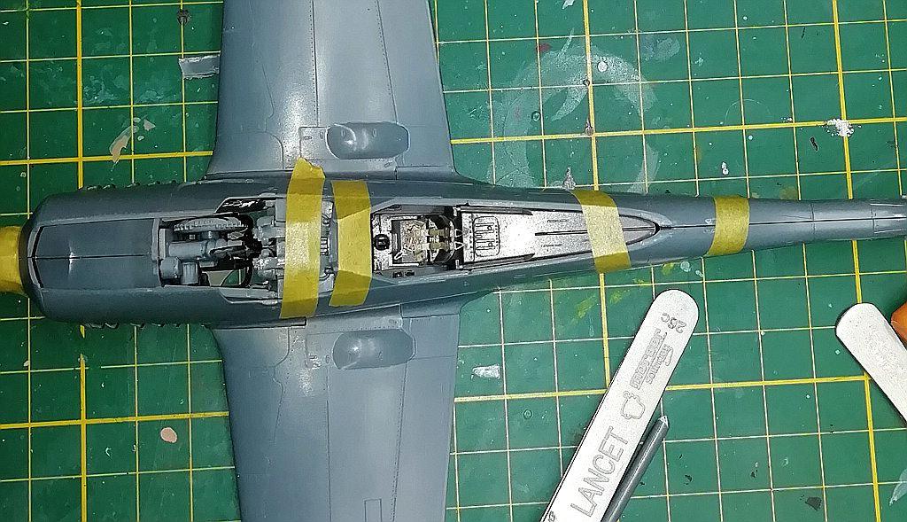 Eduard-8184-Fw-190-D-9-Werkstattbericht-Tragflächen-Passung-Fertig Werkstattbericht: FW 190 D-9 von Eduard in 1:48