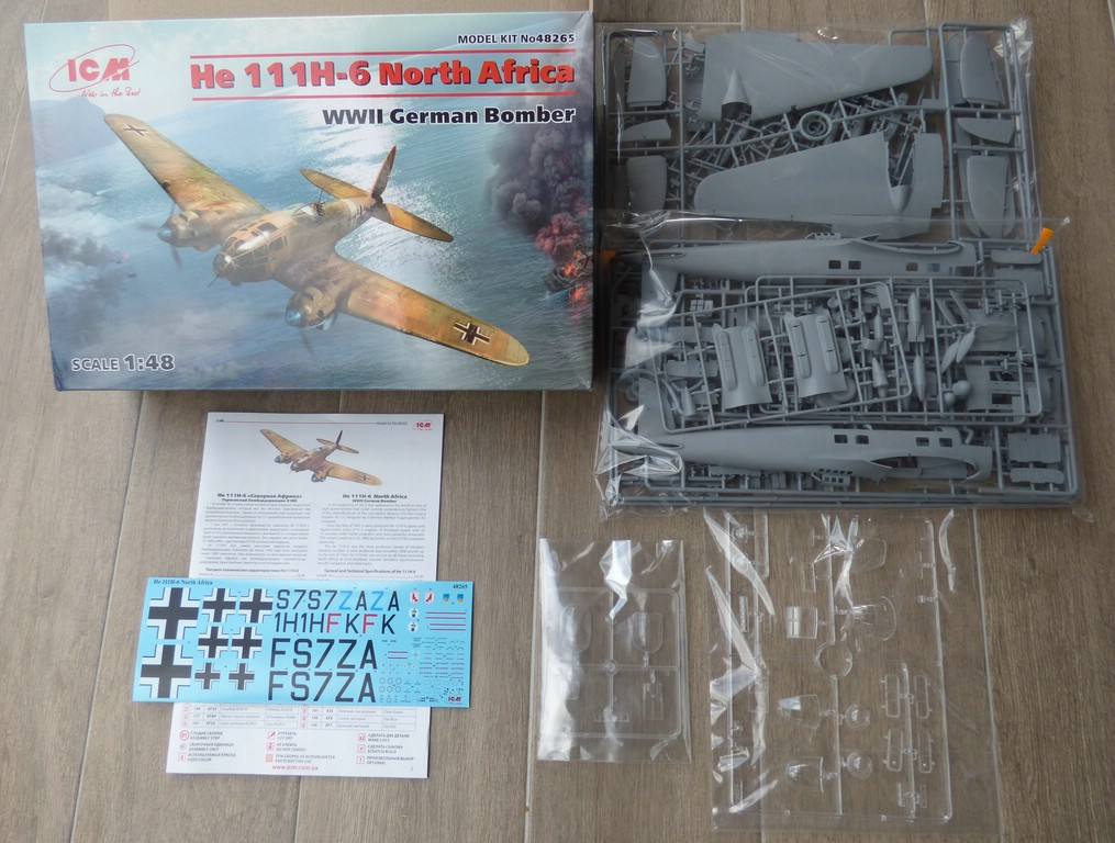 "ICM-48265-He-111-H-6-North-Africa-2 Heinkel He 111 H-6 ""North Africa"" in 1:48 von ICM # 48265"