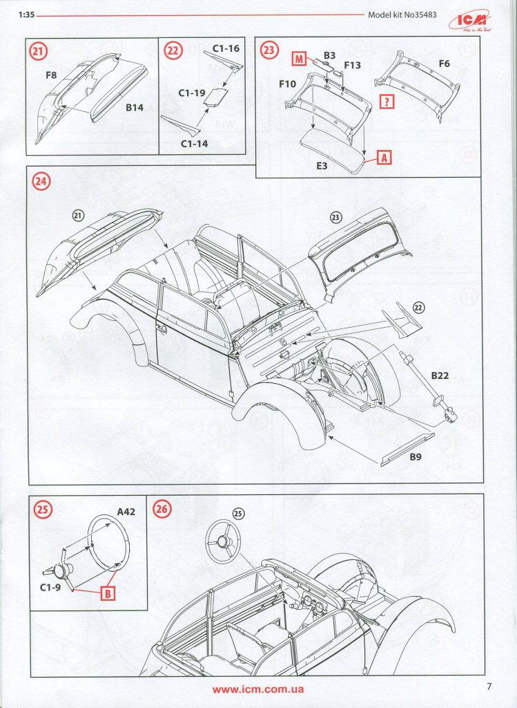 Review_ICM_Kadett_K38_Cabrio_31 Opel Kadett K38 Cabriolimousine - ICM 1/35
