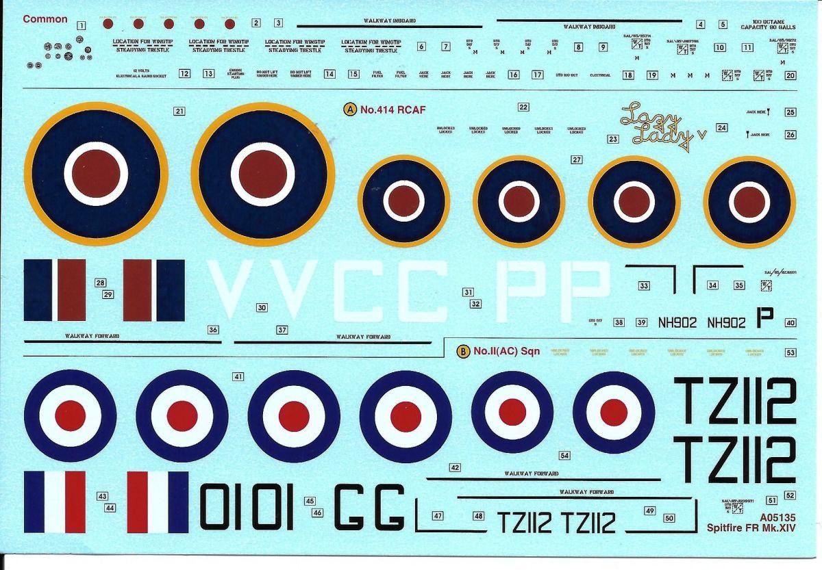 16_Airfix-A-05135-Spitfire-Mk.-XIV.47 Spitfire FR. Mk XIV in 1:48 von Airfix A05135
