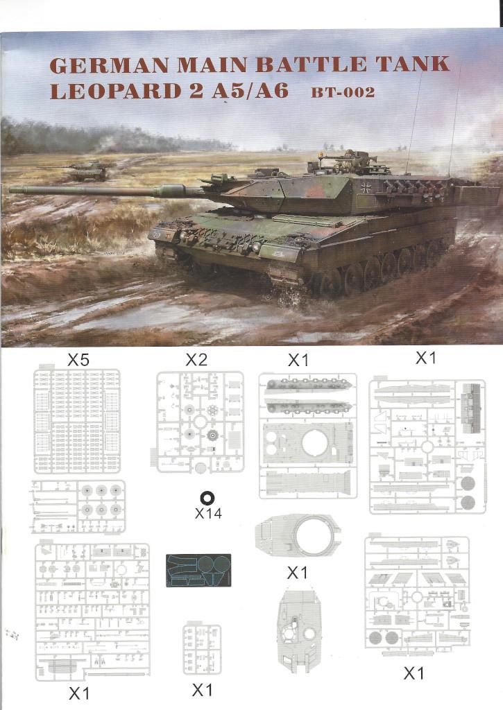 Anleitung01 German Main Battle Tank Leopard 2 A5/A6 1:35 Border Model (BT-002)