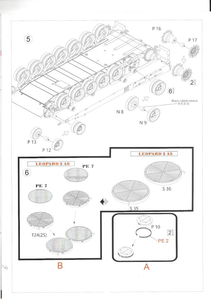 Anleitung04 German Main Battle Tank Leopard 2 A5/A6 1:35 Border Model (BT-002)