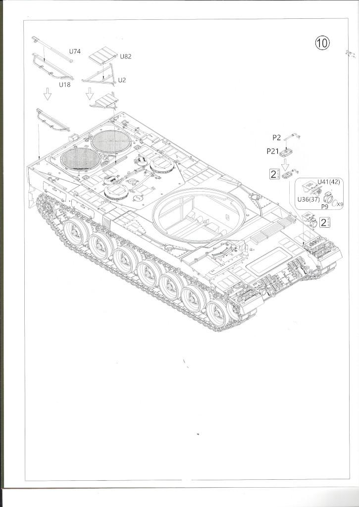 Anleitung07 German Main Battle Tank Leopard 2 A5/A6 1:35 Border Model (BT-002)
