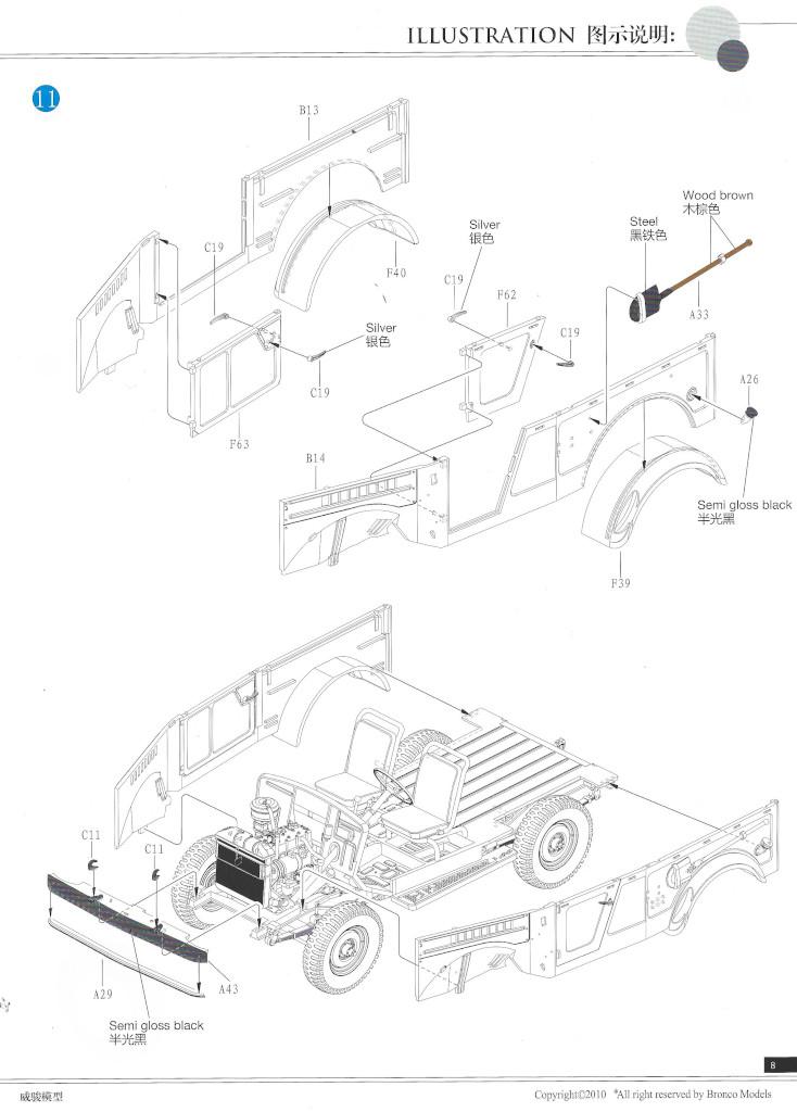 Anleitung08-2 Soviet GAZ 69(M) 4x4 Utility Truck 1:35 Bronco (CB35096)