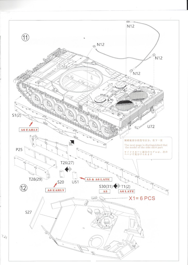 Anleitung08 German Main Battle Tank Leopard 2 A5/A6 1:35 Border Model (BT-002)