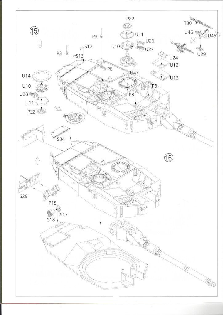 Anleitung11 German Main Battle Tank Leopard 2 A5/A6 1:35 Border Model (BT-002)