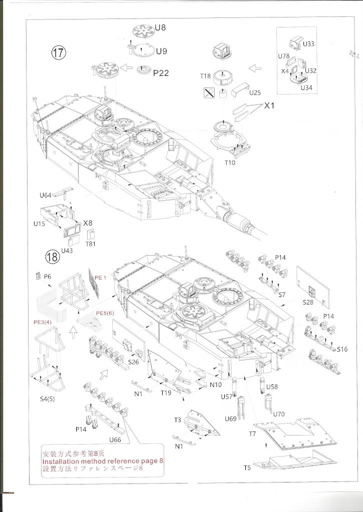Anleitung13 German Main Battle Tank Leopard 2 A5/A6 1:35 Border Model (BT-002)