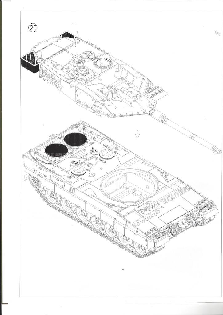 Anleitung15 German Main Battle Tank Leopard 2 A5/A6 1:35 Border Model (BT-002)