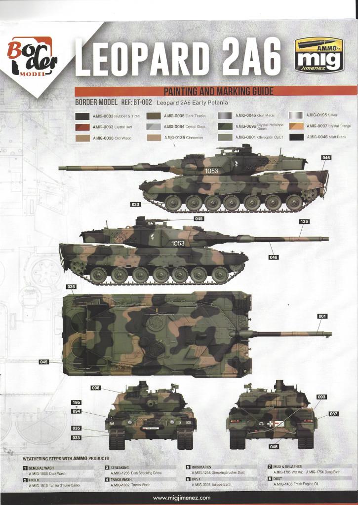 Anleitung16 German Main Battle Tank Leopard 2 A5/A6 1:35 Border Model (BT-002)