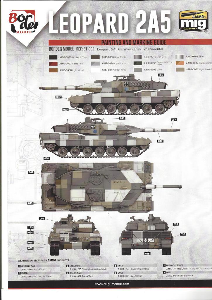 Anleitung17 German Main Battle Tank Leopard 2 A5/A6 1:35 Border Model (BT-002)