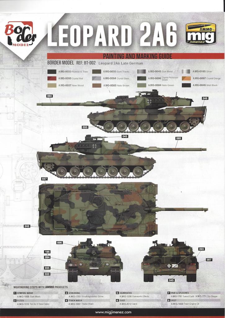 Anleitung18 German Main Battle Tank Leopard 2 A5/A6 1:35 Border Model (BT-002)