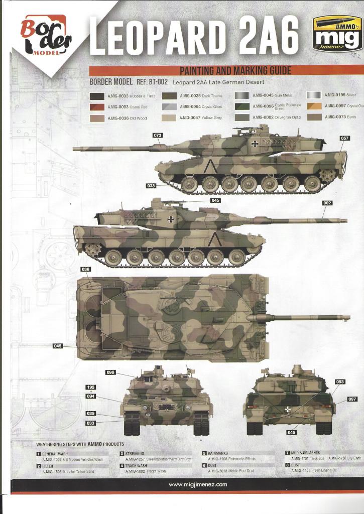 Anleitung19 German Main Battle Tank Leopard 2 A5/A6 1:35 Border Model (BT-002)