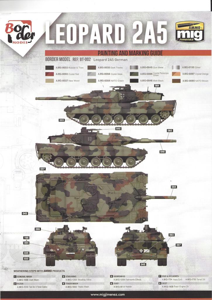 Anleitung20 German Main Battle Tank Leopard 2 A5/A6 1:35 Border Model (BT-002)