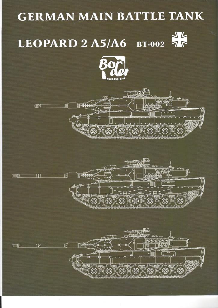 Anleitung21 German Main Battle Tank Leopard 2 A5/A6 1:35 Border Model (BT-002)