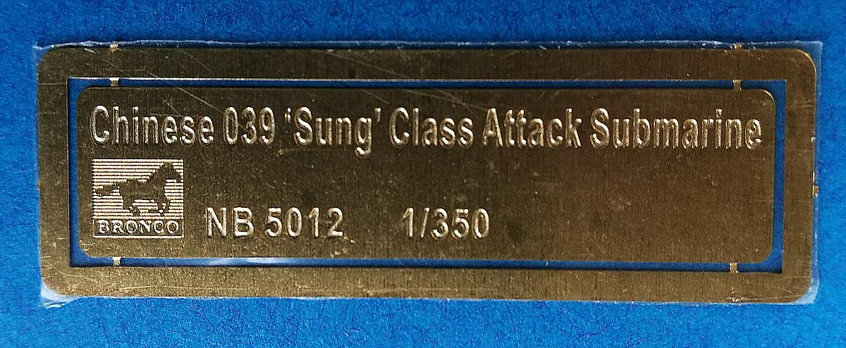 """BRONCO-NB-5012-Chineses-039G-Sung-Class-Attack-Submarine-16 Chinese 039G """"Sung""""class Attack Submarine in 1:350 von Bronco # NB 5012"""
