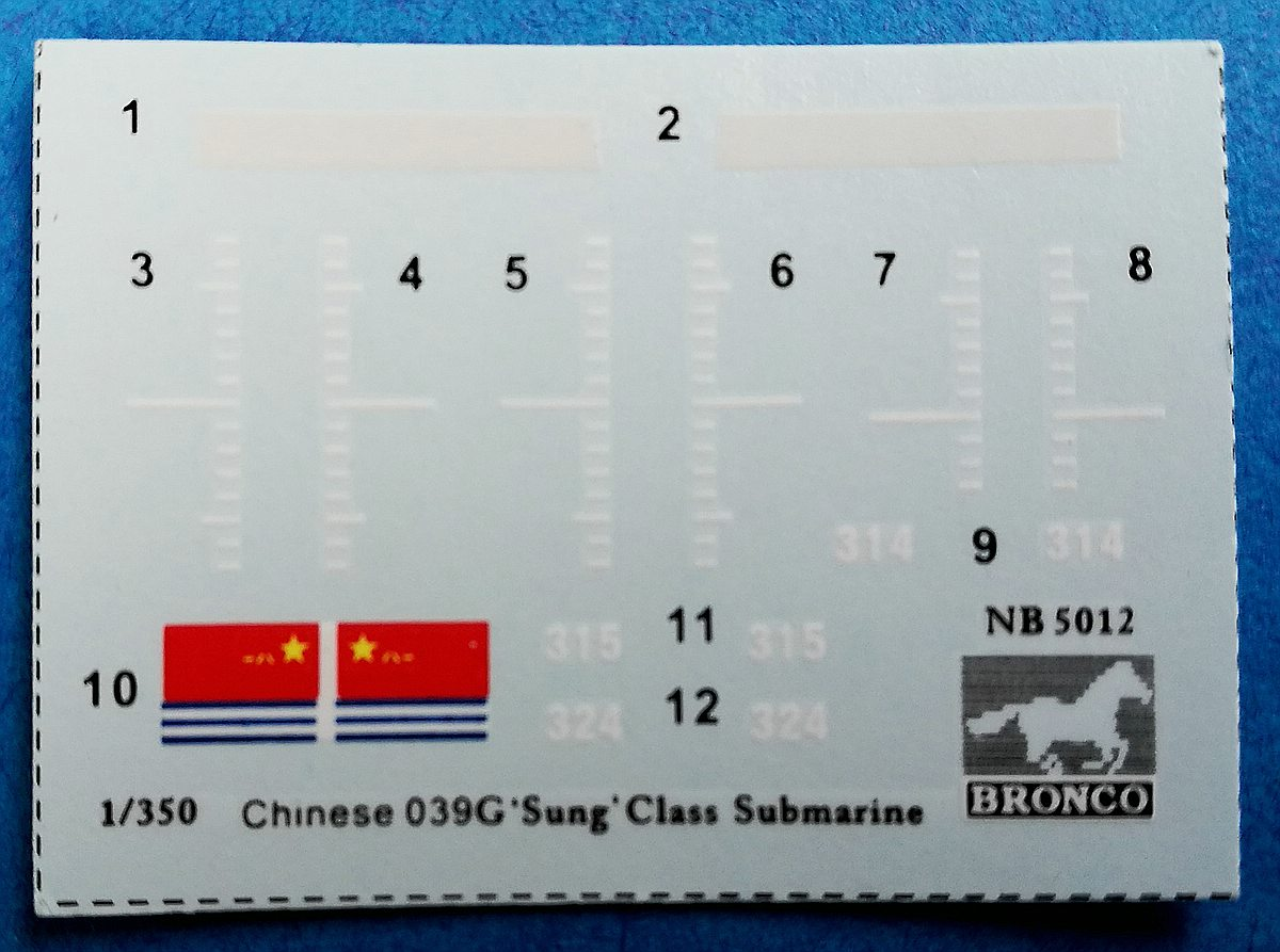 """BRONCO-NB-5012-Chineses-039G-Sung-Class-Attack-Submarine-17 Chinese 039G """"Sung""""class Attack Submarine in 1:350 von Bronco # NB 5012"""
