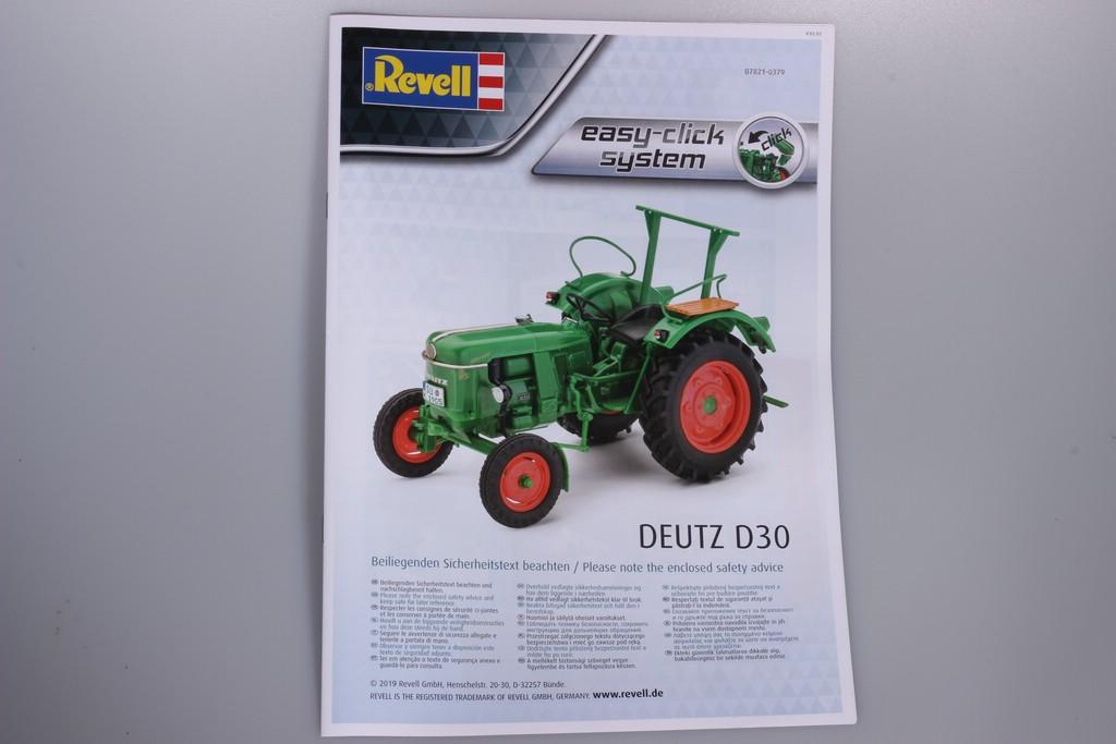 DeutzAnleitung Deutz D30 in 1:24 von Revell #07821