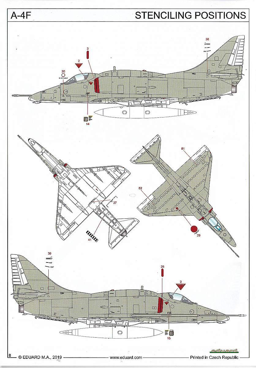 Eduard-4466-A-F-20 A-4F Skyhawk in 1:144 von Eduard #4466