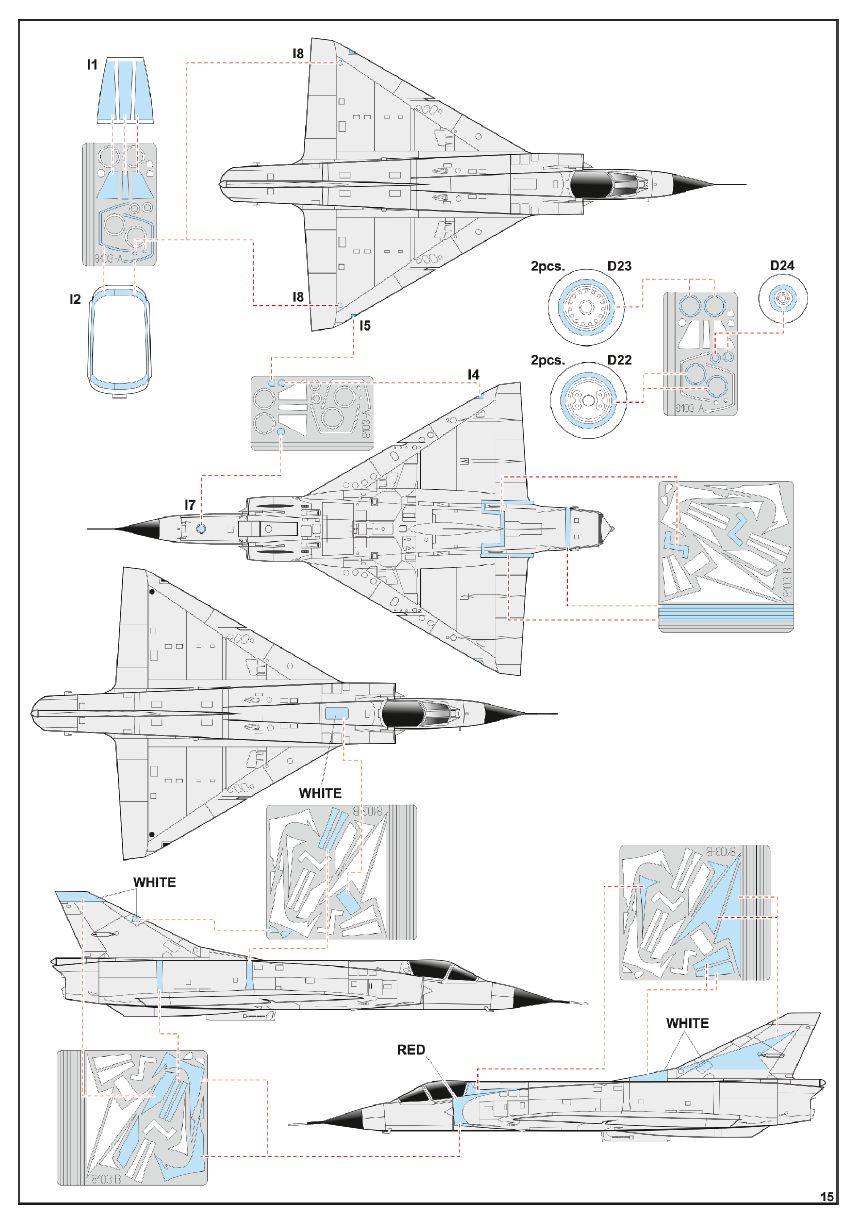 Eduard-8103-Mirage-III-C6 Mirage IIIC in 1:48 von Eduard # 8103
