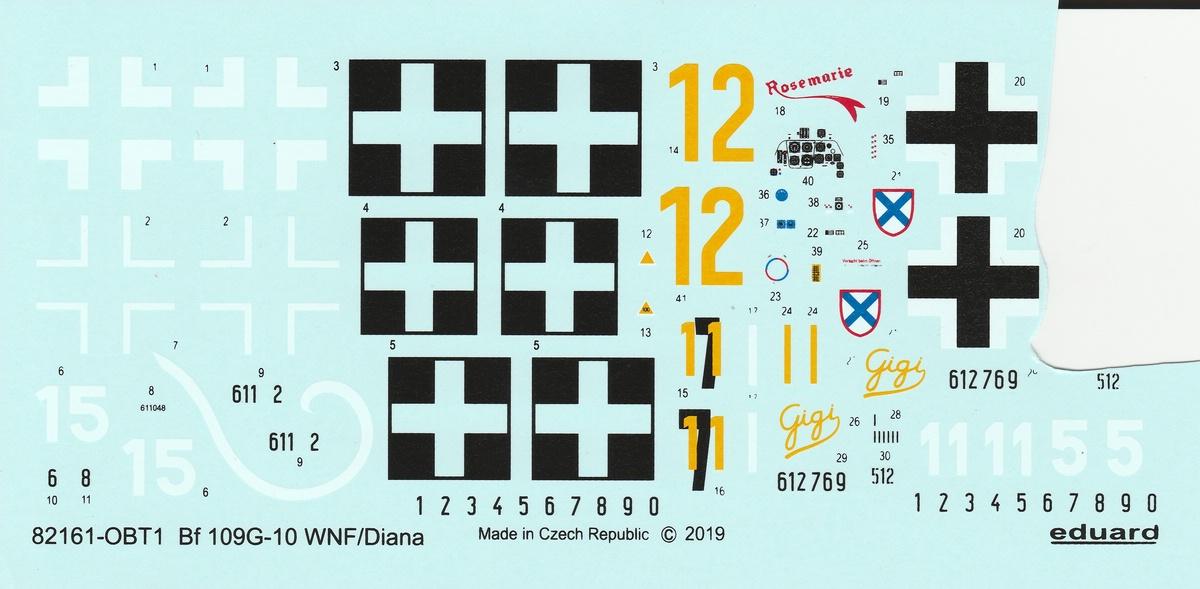 Eduard-82161-Bf-109-G-10-WNF-Diana-18 Messerschmitt Bf 109 G-10 WNF/Diana in 1:48 Eduard Profi-Pack #82161