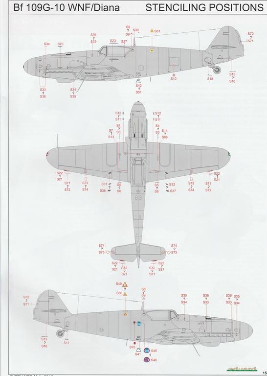 Eduard-82161-Bf-109-G-10-WNF-Diana-20 Messerschmitt Bf 109 G-10 WNF/Diana in 1:48 Eduard Profi-Pack #82161