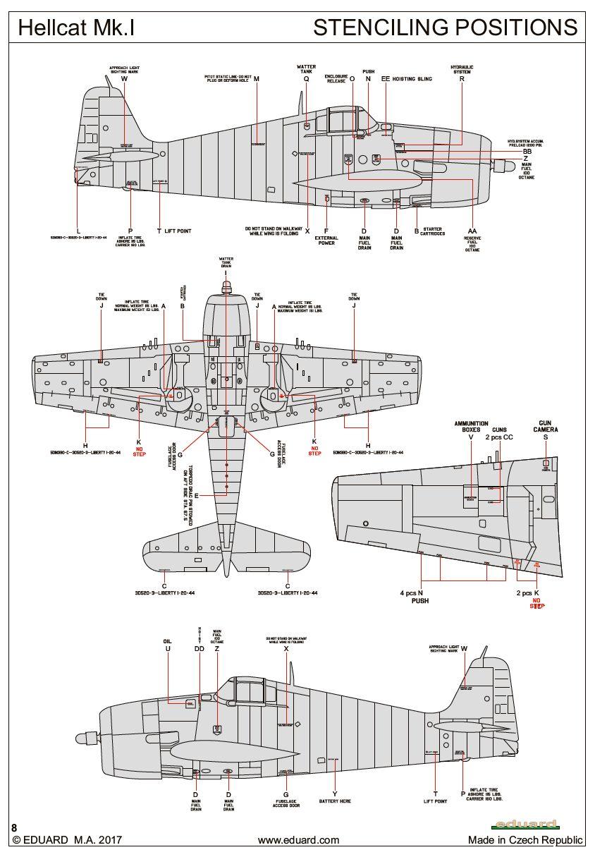 Eduard-8435-Hellcat-Mk.-I-WEEKEND-Bauanleitung7 Hellcat Mk. I in 1:48 von Eduard WEEKEND #8435