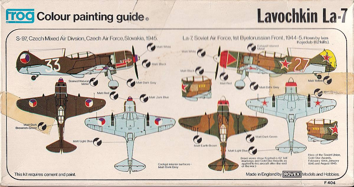 FROG-F.404-La-7-2 Kit-Archäologie: Lawotschkin La-7 von FROG F.404