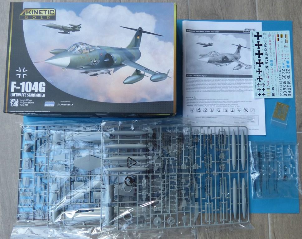 Kinetic-Gold-48083-F-104G-Starfighter-2 F-104G Luftwaffe Starfighter in 1:48 von KINETIC #48083