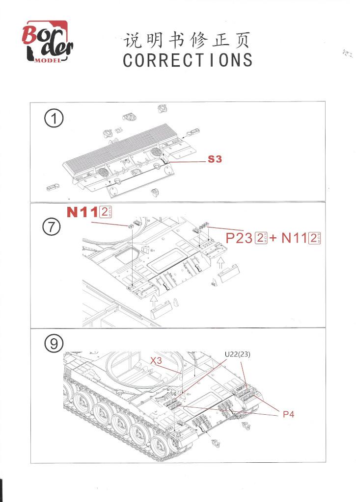 Korrektur1 German Main Battle Tank Leopard 2 A5/A6 1:35 Border Model (BT-002)