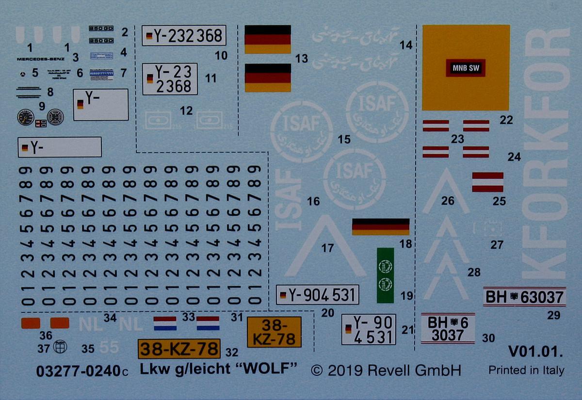 Revell-03277-LKW-gl-leicht-Wolf-1 LKW gl le WOLF in 1:35 von Revell 03277