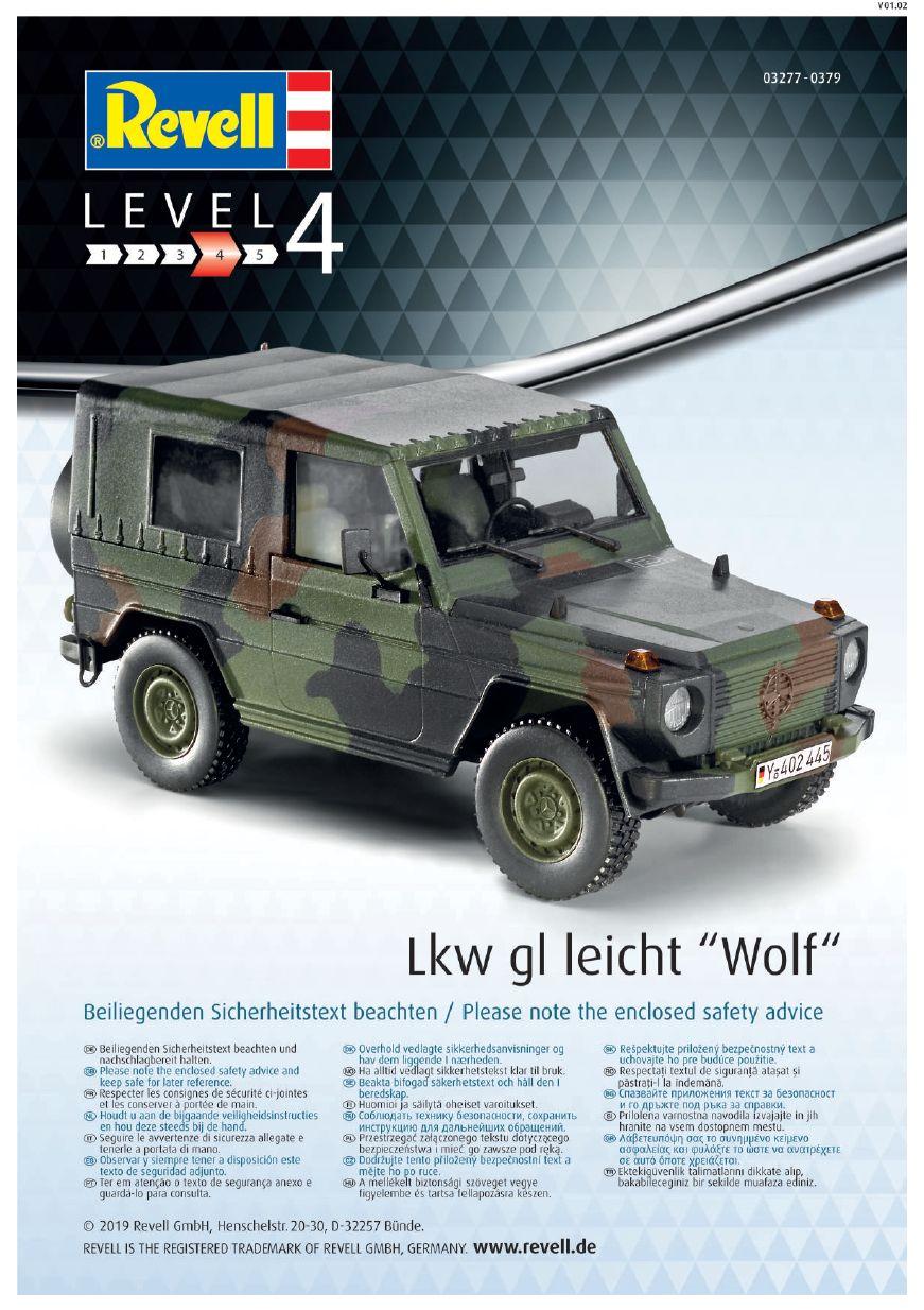 Revell-03277-LKW-leicht-Wolf-Bauanleitung-9 LKW gl le WOLF in 1:35 von Revell 03277