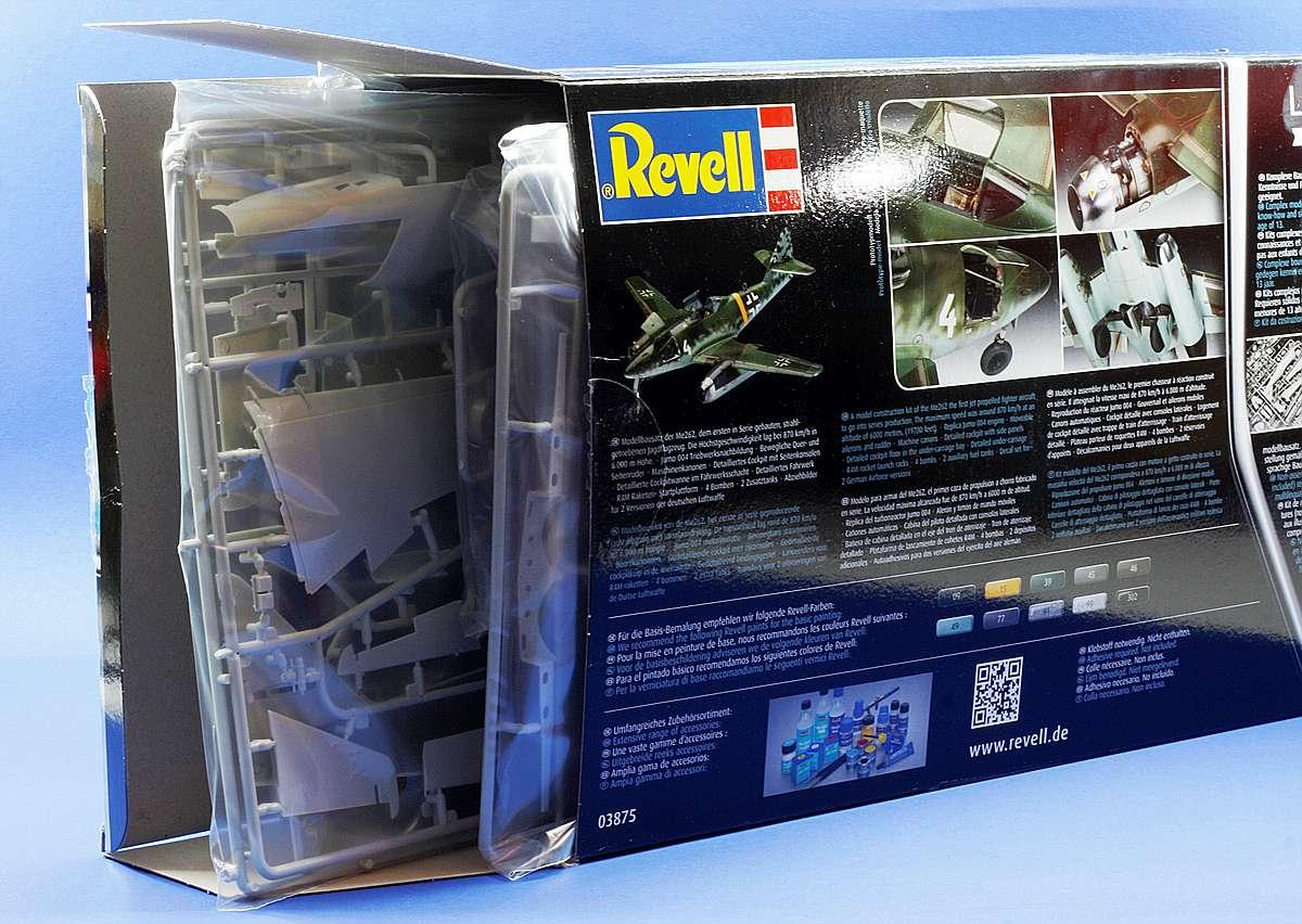Revell-03875-Me-262-A1-Übersicht Messerschmitt Me 262 A-1/A-2 in 1:32 von Revell # 03875