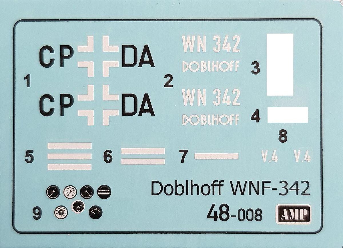 AMP-48008-Doblhoff-WNF-342-8 Doblhoff WNF-342 in 1:48 von AMP #48008